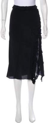 Rochas Silk Midi Skirt