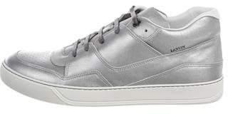 Lanvin Metallic Mid-Top Sneakers w/ Tags