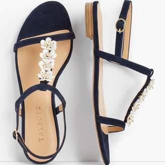 Talbots Keri Flower Embellished Sandals