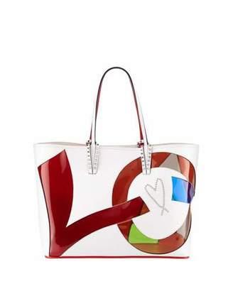 Christian Louboutin Cabata Small Love Calf Paris Tote Bag