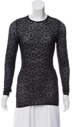 Stella McCartney Lace Long Sleeve Top
