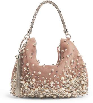 Jimmy Choo Medium Embellished Suede Callie Clutch Bag