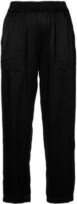 Raquel Allegra elasticated waist cropped trousers