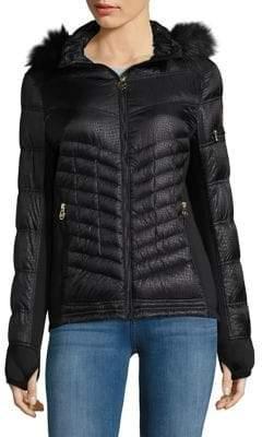 MICHAEL Michael Kors Cobblestone Faux Fur Puffer Coat