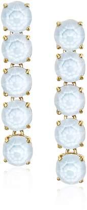 """Kate Spade Fancy That"""" Blue Linear Earrings"""