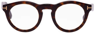 Tom Ford Tortoiseshell Soft Round Glasses