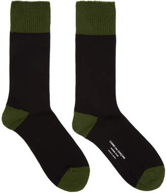 Comme des Garcons Black and Green Jersey Socks