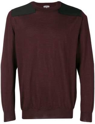 Lanvin shoulder contrast sweater