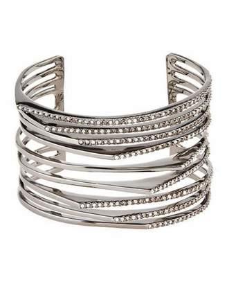 Alexis Bittar Crystal Origami Peaks Cuff Bracelet $275 thestylecure.com