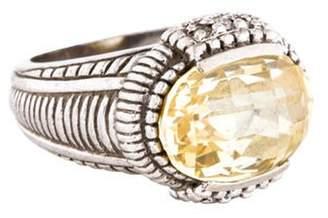 Judith Ripka Canary Crystal & Diamond Ring silver Canary Crystal & Diamond Ring