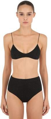 Oséree Swimwear High Waisted Lurex & Lycra Bikini