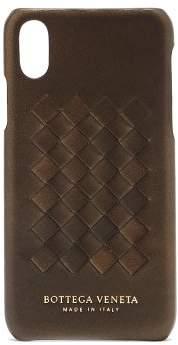 Bottega Veneta Intrecciato Leather Iphone X Case - Womens - Bronze