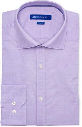Vince Camuto Men's Slim-Fit Comfort Stretch Amethyst Geo Dobby Dress Shirt