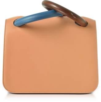 Roksanda Desert Sand Leather Neneh Bag w/Wooden Handles