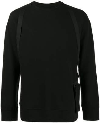 Helmut Lang Black shoulder strap sweatshirt