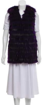 Alice + Olivia Fur Stripe Vest