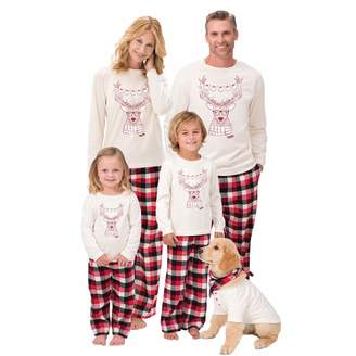 Best for all Family Matching Christmas Plaid Pajama Set Nightwear Homewear Sleepwear (, M)