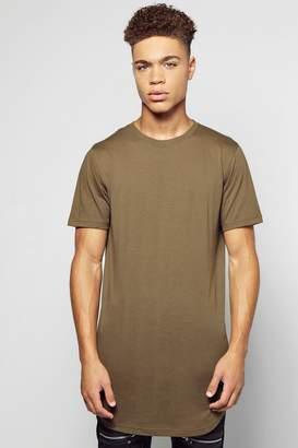 boohoo Longline Scoop Hem T-Shirt