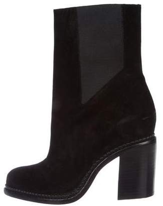 Theyskens' Theory Suede Ankle Boots