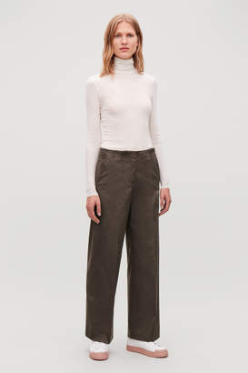 Cos WIDE-LEG TROUSERS WITH PLEATS