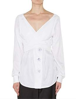 CHRISTOPHER ESBER Avery Wrap Resin Button Shirt