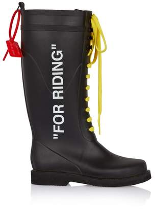 Off-White Off White For Riding Black Rubber Boot