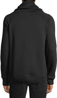 Karl Lagerfeld Paris Cowl-Neck Side-Zip Hoodie
