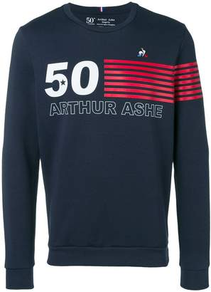 Le Coq Sportif striped detail sweatshirt