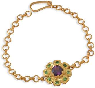 Emma Chapman Jewels Belladona Amethyst Tsavorite Bracelet