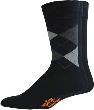 Dockers Men's 3-pack Solid & Patterned Stretch Crew Socks
