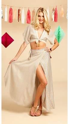 Miguelina Padma Wrap Skirt - Rainbow Stripe