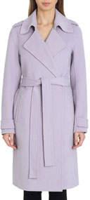 Double-Face Wool Knee-Length Wrap Coat