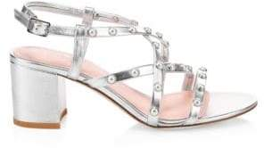 Kate Spade Wynne Strappy Metallic Block Heel Sandals