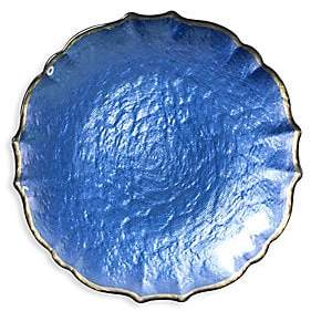 Vietri Pastel Glass Salad Plate - Blue