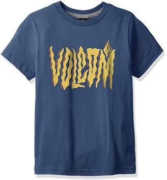 Volcom (ヴォルコム) - (ボルコム) VOLCOM キッズ 半袖 プリント Tシャツ (丈夫なヘビーうウェイトボディ採用) Steam SS Tee/Y3521731 [ 子供服 ] Y3521731 SMB SMB_ブルー 6