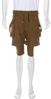 Balmain Layered Harness Cargo Shorts