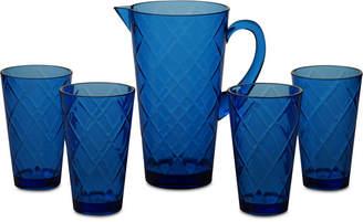 Certified International Cobalt Blue Diamond Acrylic 5-Pc. Drinkware Set