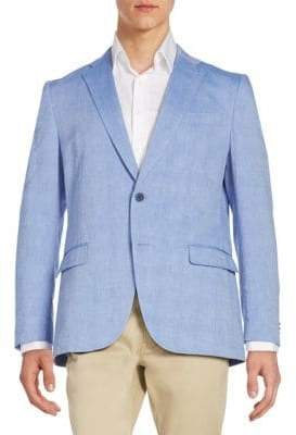 Michael Kors Regular-Fit Cotton-Blend Sportcoat