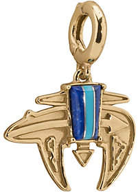 American West Channel Inlay Brass Charm