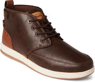 Levi's Brown & Tan Atwater Burnished Chukka Sneakers