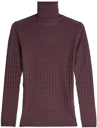 M Missoni Turtleneck Pullover with Wool