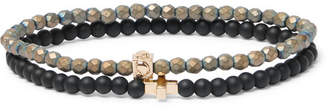 Luis Morais Set of Two Glass and 14-Karat Gold Bracelets - Black