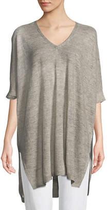 Eileen Fisher Organic Linen Melange V-Neck Easy Tunic