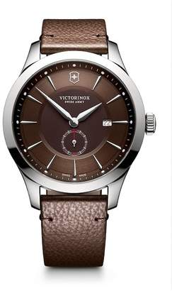 Victorinox Alliance Large Sub-Seconds Brown Leather Strap Watch, 44mm