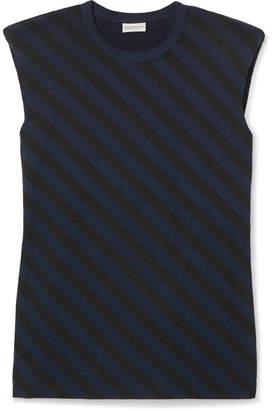 Dries Van Noten Striped Cotton-jersey Tank - Black
