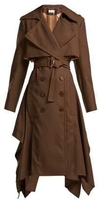Chloé Wool Gabardine Trench Coat - Womens - Brown