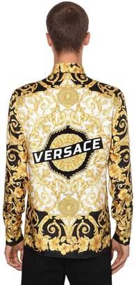 Versace Heritage Hibiscus Printed Silk Shirt