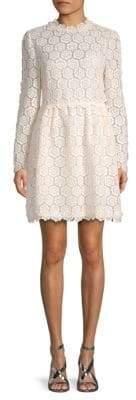 Valentino Rose Lace Mini Dress
