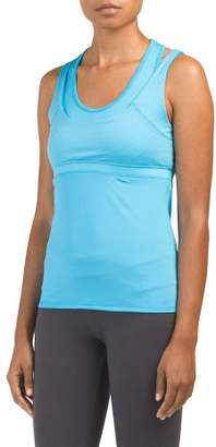 Double Up Racerback Top With Bra