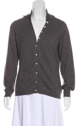 Les Copains Cashmere Collared Cardigan